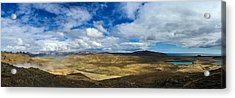 Iceland Panorama Image Geothermal Area Acrylic Print