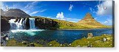 Iceland Panorama Shot Kirkjufell Acrylic Print