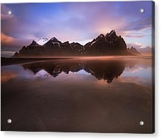 Iceland Sunset Reflections Acrylic Print