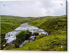 Icelandic Cascade Acrylic Print
