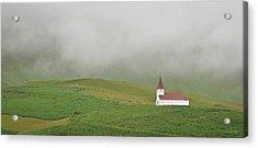 Acrylic Print featuring the photograph Icelandic Chapel by Joe Bonita