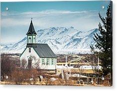 Icelandic Church, Thingvellir Acrylic Print