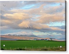 Acrylic Print featuring the photograph Icelandic Farmhouse by Brad Scott