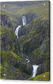 Acrylic Print featuring the photograph Icelandic Waterfall by Elvira Butler