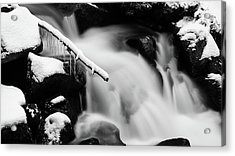 Icicle At The Stream Acrylic Print