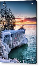 Acrylic Print featuring the photograph Icicle Cliffs by Mark David Zahn Photography
