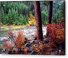 Icicle Creek Acrylic Print by Bob Groshart