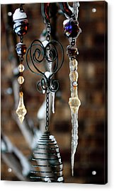 Icicles Acrylic Print by Jill Smith