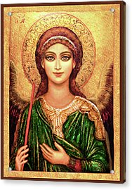 Icon Angel In Green Acrylic Print