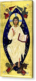 Icon Of Christ In Glory Acrylic Print by Juliet Venter
