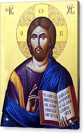 Icon Of Christ In Jericho Acrylic Print