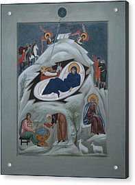 Icon Of The Nativity Of Christ Acrylic Print by Philip Davydov