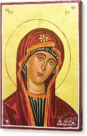 Icon Of The Virgin Mary. Acrylic Print by Anastasis  Anastasi