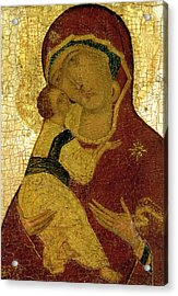 Icon Of The Virgin Of Vladimir Acrylic Print by Moscow School