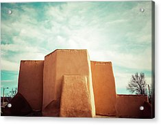 Acrylic Print featuring the photograph Iconic Church In Taos by Marilyn Hunt