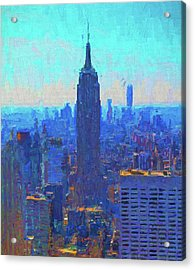 Iconic Empire State Building Acrylic Print by Dan Sproul
