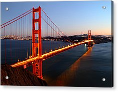 Iconic Golden Gate Bridge In San Francisco Acrylic Print by Pierre Leclerc Photography