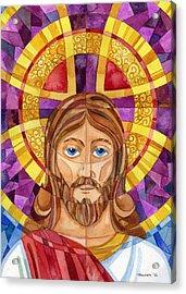 iconic Jesus Acrylic Print by Mark Jennings