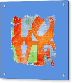 Iconic Love - Grunge Acrylic Print