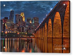 Iconic Minneapolis Stone Arch Bridge Acrylic Print