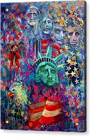 Icons Of Freedom Acrylic Print by Peter Bonk