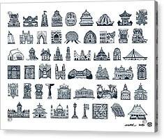 Icons Of Indian Architecture Acrylic Print