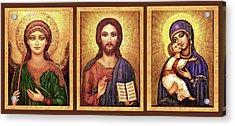 Icons Tryptichon Acrylic Print by Ananda Vdovic