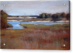 Icw Looking Toward Masonboro Acrylic Print