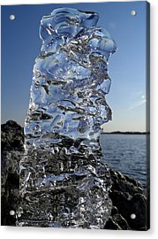Acrylic Print featuring the photograph Icy Beach View 3 by Sami Tiainen