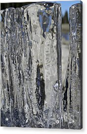 Acrylic Print featuring the photograph Icy Beach View 4 by Sami Tiainen
