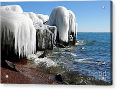 Icy Beauty After The Storm Acrylic Print by Sandra Updyke