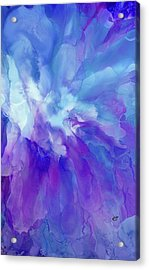 Icy Bloom Acrylic Print