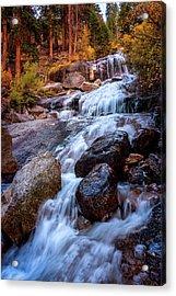 Icy Cascade Waterfalls Acrylic Print