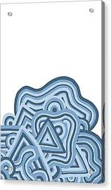 Acrylic Print featuring the drawing Icy Fun by Jill Lenzmeier