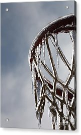 Icy Hoops Acrylic Print by Nadine Rippelmeyer