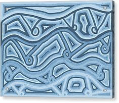 Acrylic Print featuring the drawing Icy Layers by Jill Lenzmeier