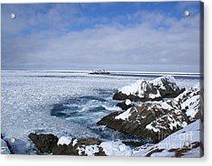 Icy Ocean Slush Acrylic Print