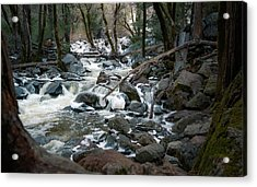 Icy River Below Bridalveil Yosemite California Acrylic Print