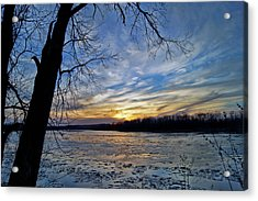 Acrylic Print featuring the photograph Icy River by Cricket Hackmann