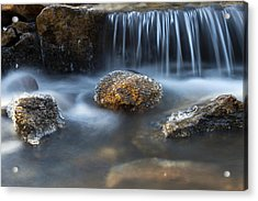 Icy Rocks On The Coxing Kill #1 Acrylic Print