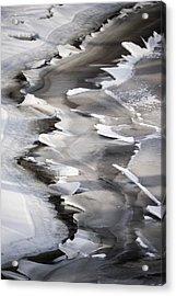 Icy Shoreline Acrylic Print