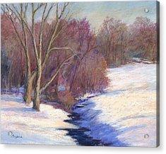 Icy Stream Acrylic Print