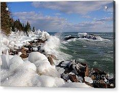 Icy Superior Waves Acrylic Print