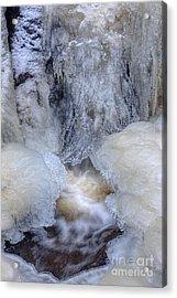 Icy Waterfall Acrylic Print by Veikko Suikkanen