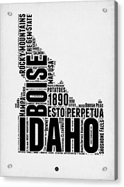 Idaho Word Cloud 2 Acrylic Print