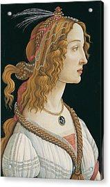 Idealized Portrait Of A Lady Acrylic Print