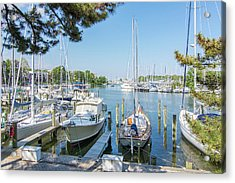 Acrylic Print featuring the photograph Idle Boats by Charles Kraus