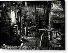 Acrylic Print featuring the photograph Idle Bw by David Buhler