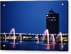Acrylic Print featuring the photograph Idlewild Fountain And Tower by John Schneider