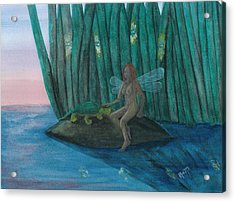 Idly Watching Fireflies...no. Two Acrylic Print by Robert Meszaros